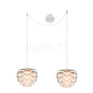 UMAGE Aluvia mini Cannonball Pendant Light 2 lamps white, cable black