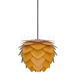 UMAGE Aluvia mini Hanglamp geel, kabel zwart