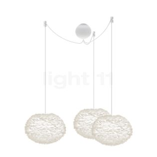 UMAGE Eos mini Cannonball Suspension 3 foyers blanc, câble blanc