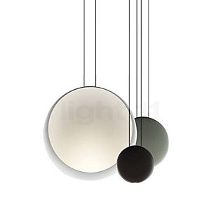 Vibia Cosmos Hanglamp Up- & Downlight 3-lichts LED wit/bruin/groen
