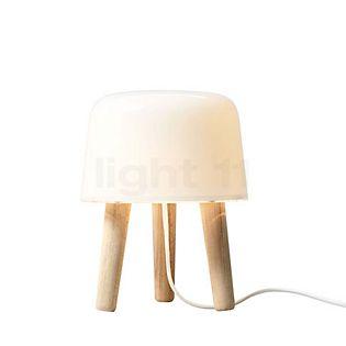 &tradition Milk NA1 Lampada da tavolo legno di frassino naturale/cavo bianco