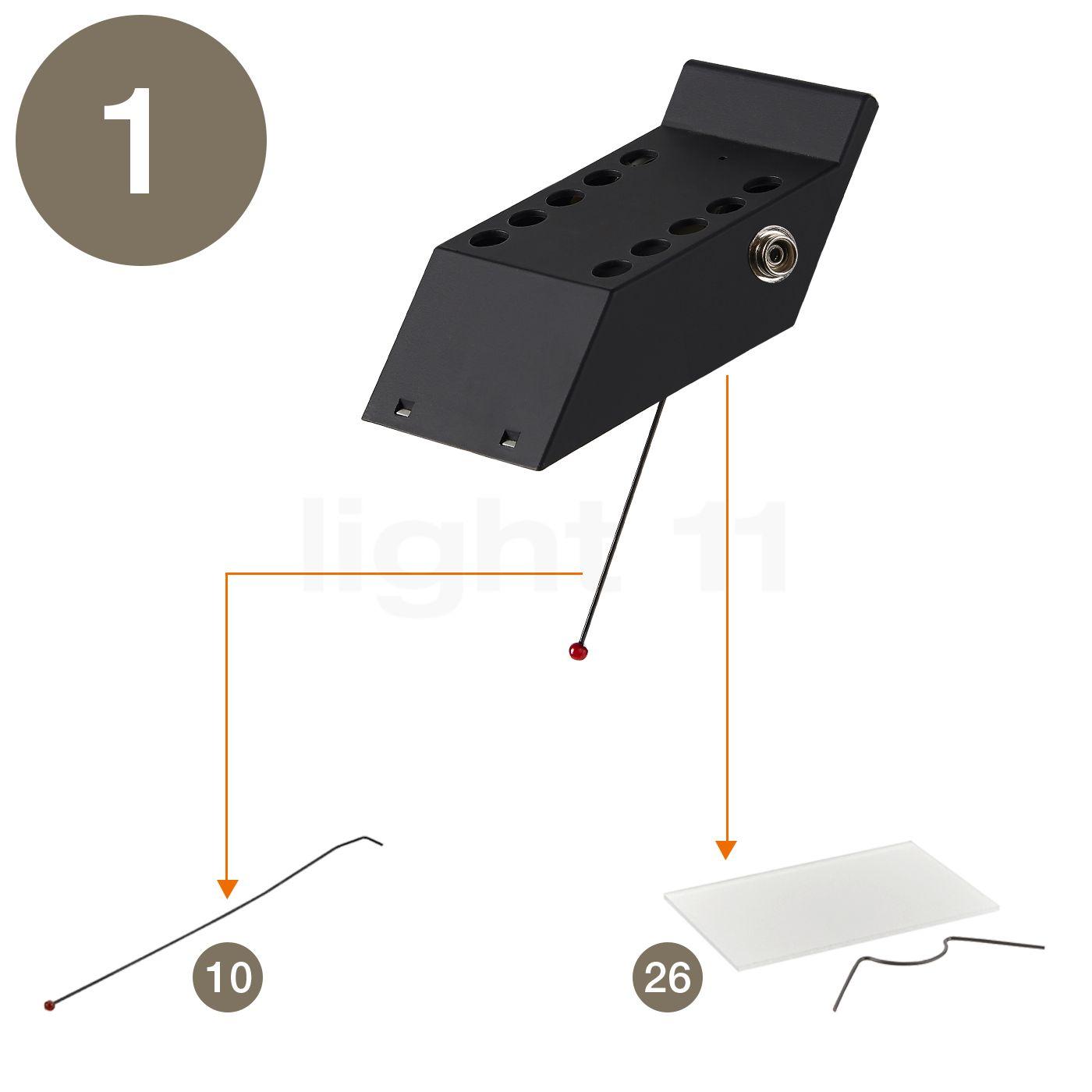 Artemide Spare parts for Tizio 35  black buy at light11 eu. Artemide Lighting Spare Parts. Home Design Ideas