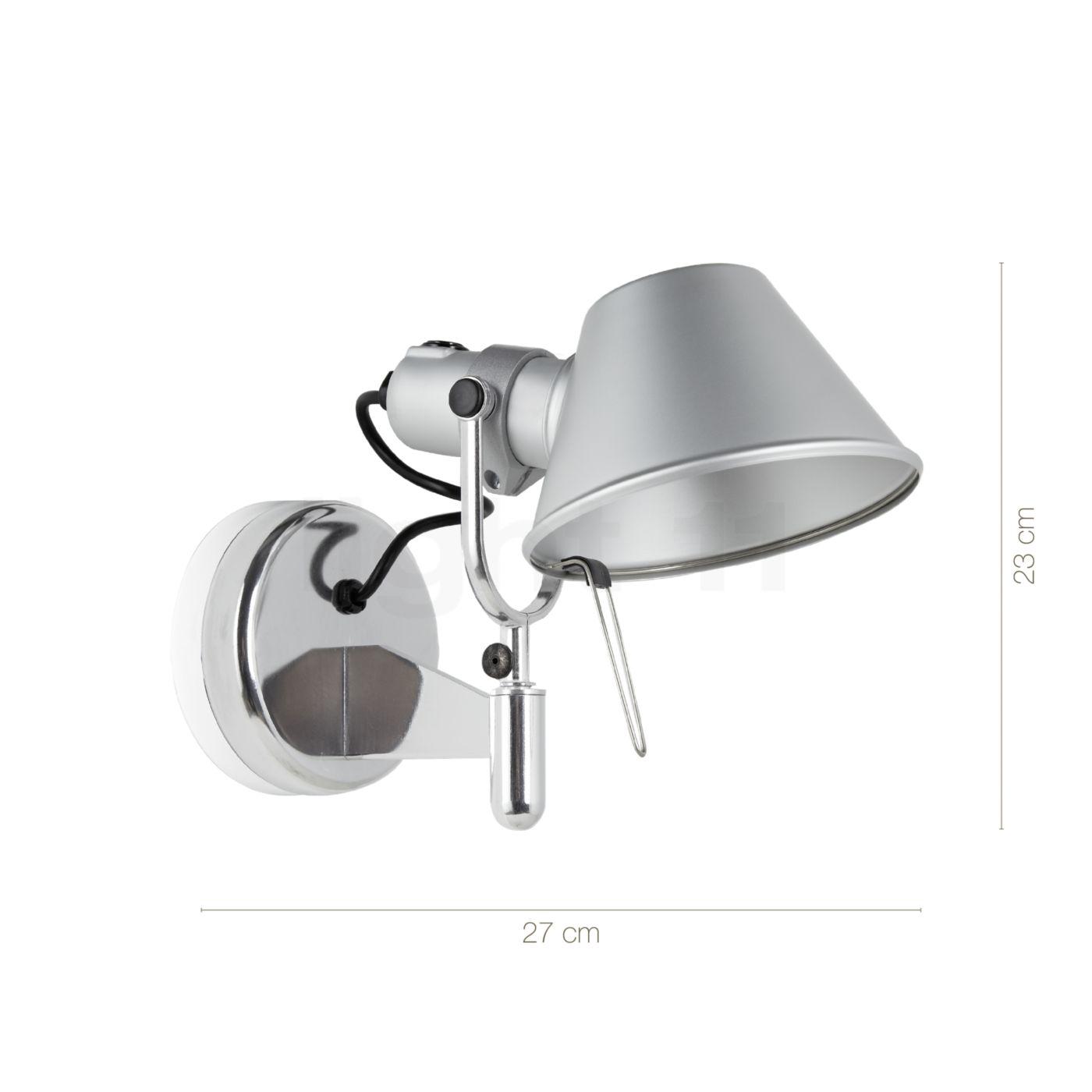 Lampe De Lecture Artemide Tolomeo Faretto LED Avec Interrupteur