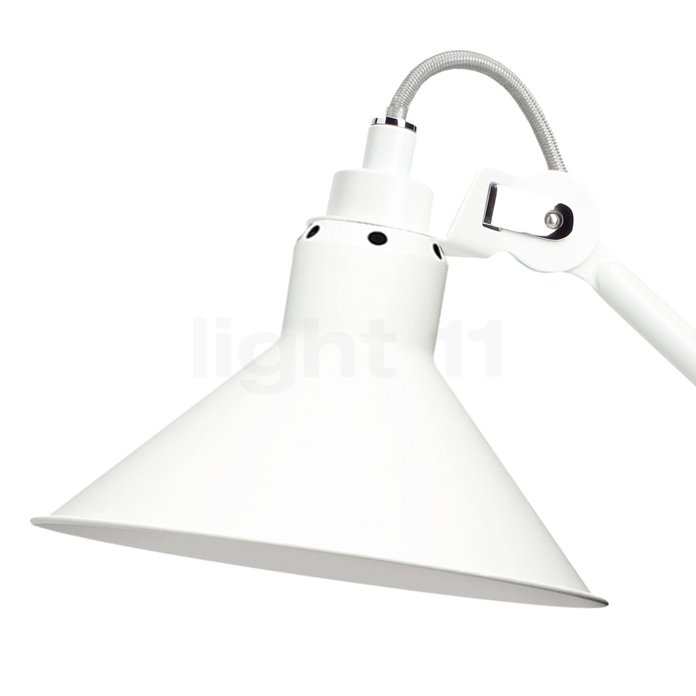 Buy Dcw Lampe Gras No 207 Table Lamp White Conical At