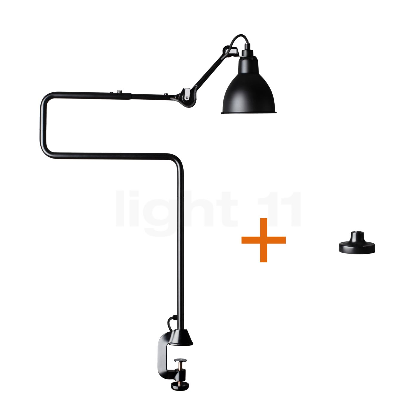 dcw lampe gras no 211 311 table lamp with table mount. Black Bedroom Furniture Sets. Home Design Ideas