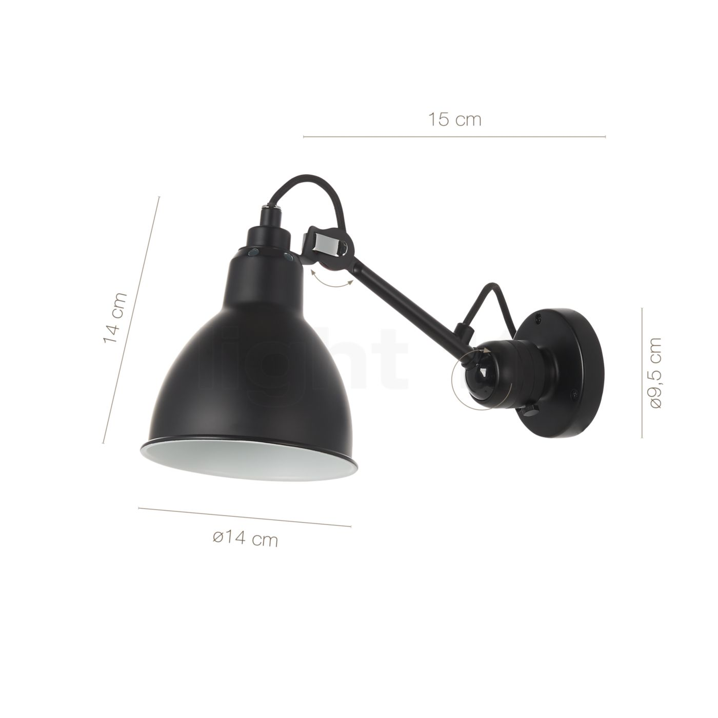 Buy dcw lampe gras no 304 wall light black at light11 aloadofball Choice Image