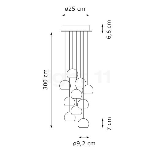 Fabbian Multispot Beluga round 10-lamp LED Pendant lights