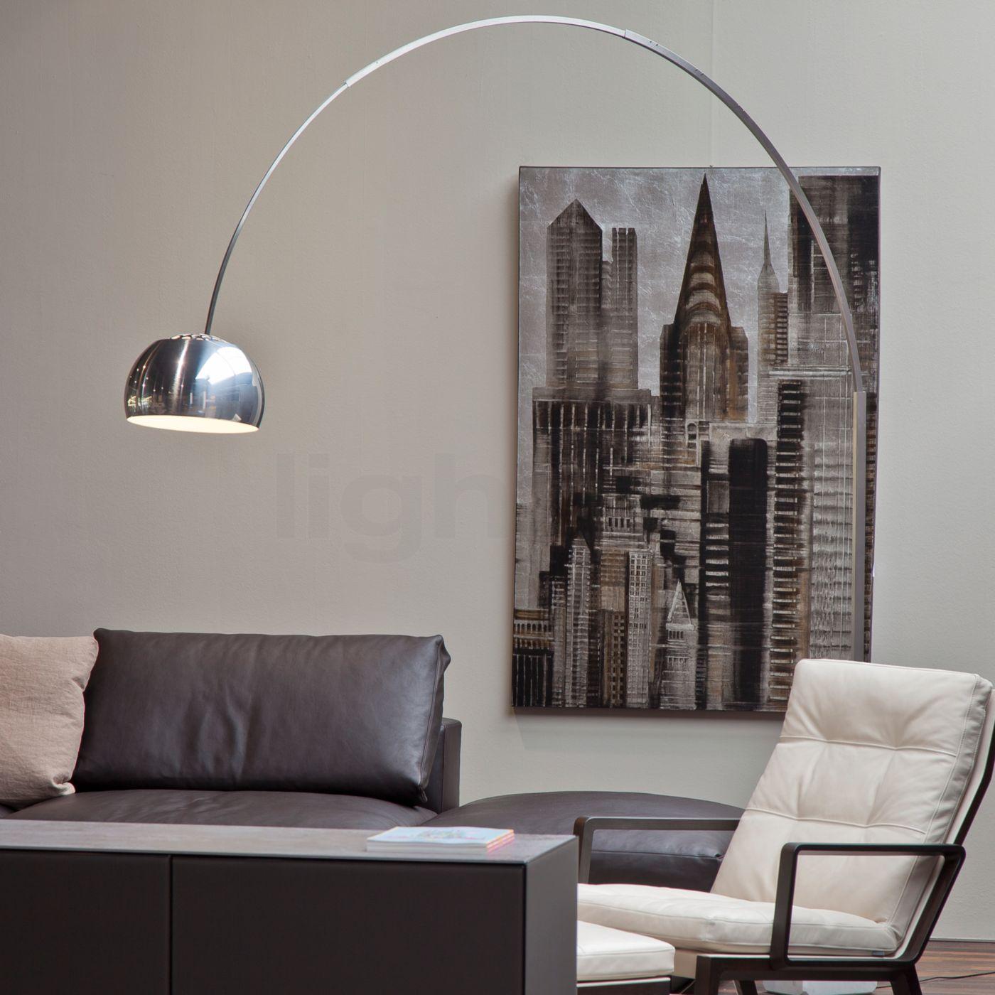 Arco Stehleuchte arco led flos kaufen bei light11 de