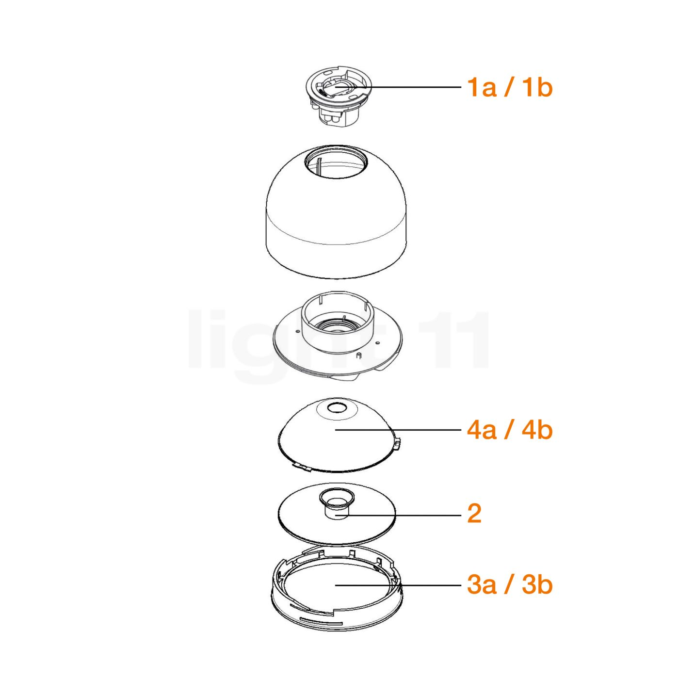 Buy flos spare parts for wan wall ceiling light at aloadofball Images