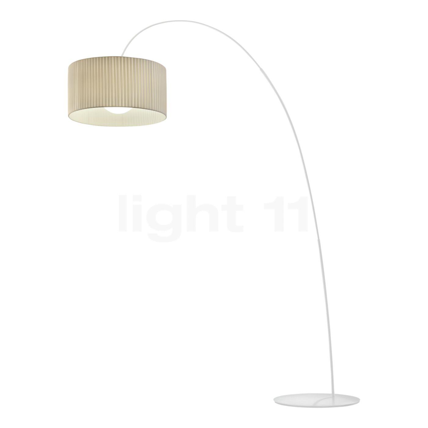 Morosini Fog Plissè lampada ad arco bianco - light11.it