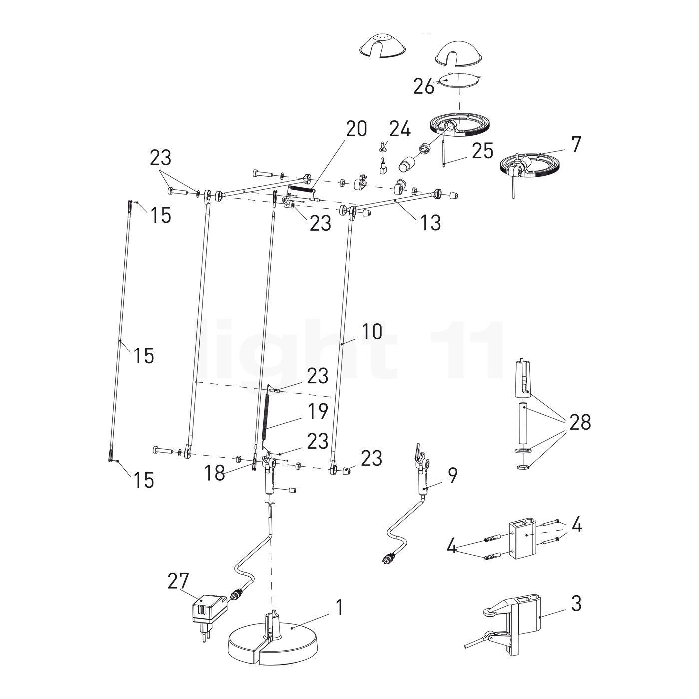 Luceplan Ersatzteile Berenice Tavolo Aluminium Light11 De