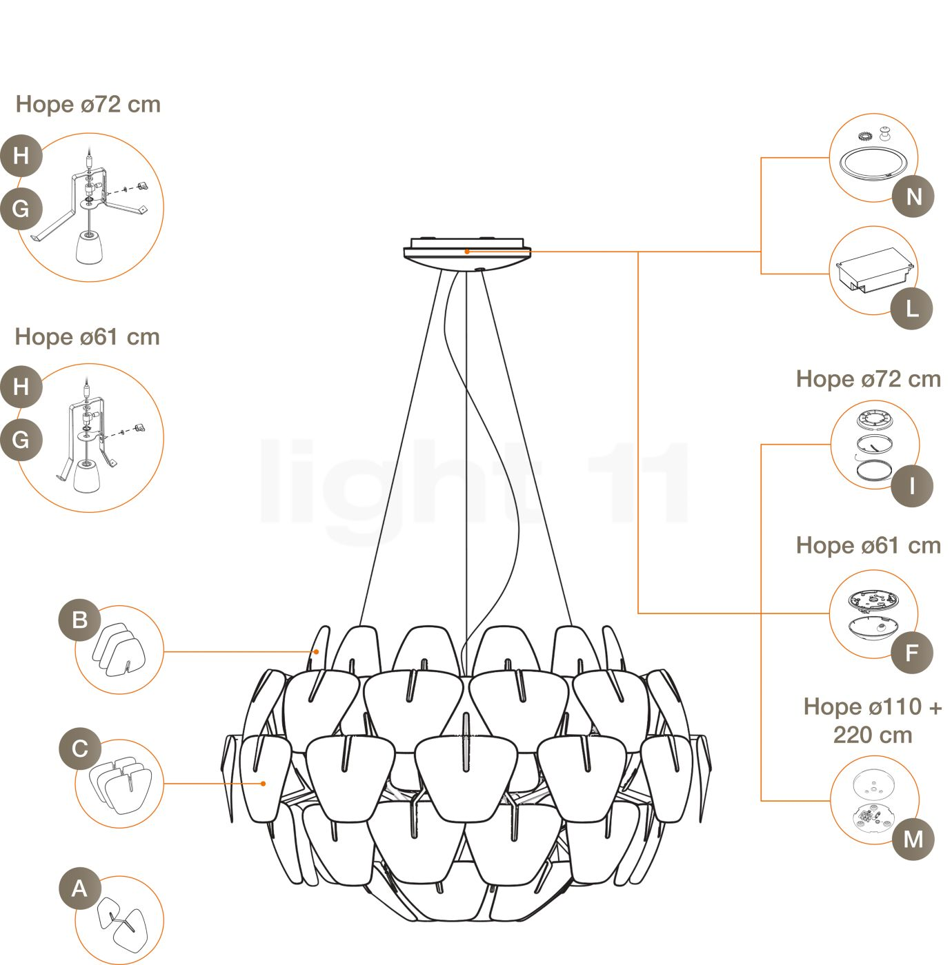 Buy luceplan spare parts for hope pendant light at aloadofball Image collections