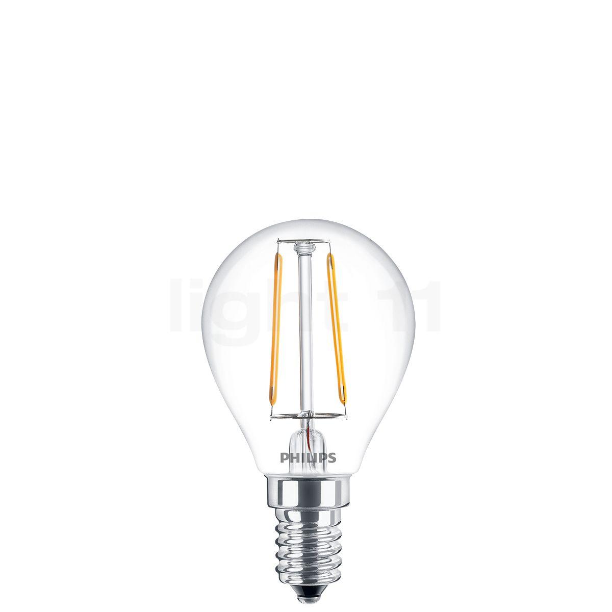 philips d45 2 3w  c 827  e14 filament led