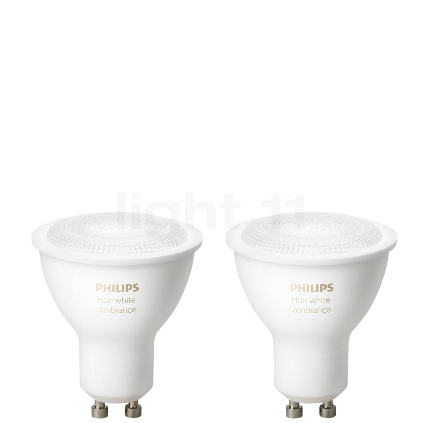 philips hue gu10 r flecteur lot de 2 white ambiance 5 5w extension. Black Bedroom Furniture Sets. Home Design Ideas
