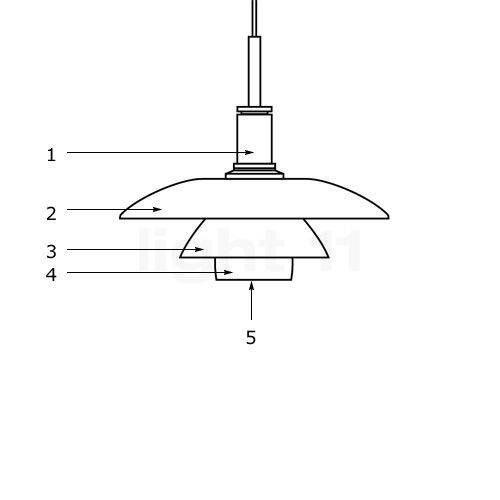 Buy louis poulsen spare parts for ph 4 4 glass pendant light at aloadofball Image collections