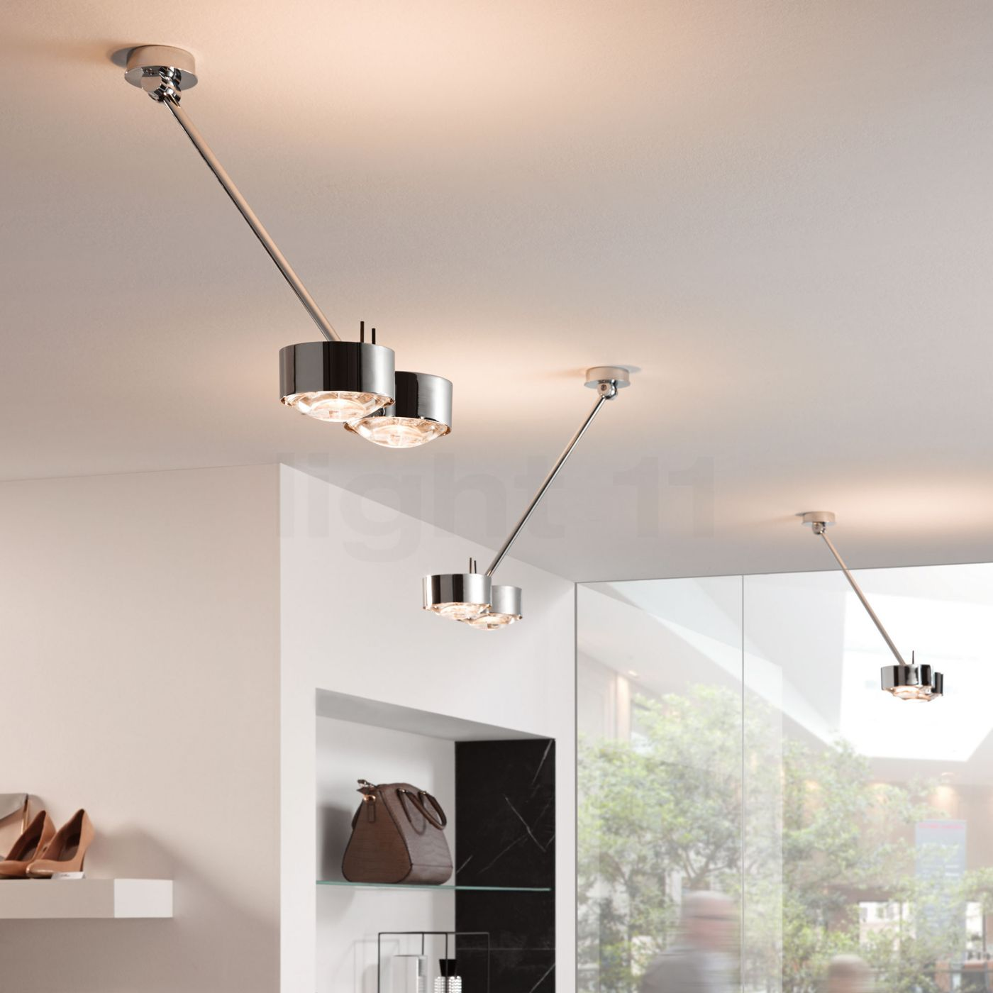 Puk Top Light top light puk maxx wing ceiling 60 cm led decentralised ceiling