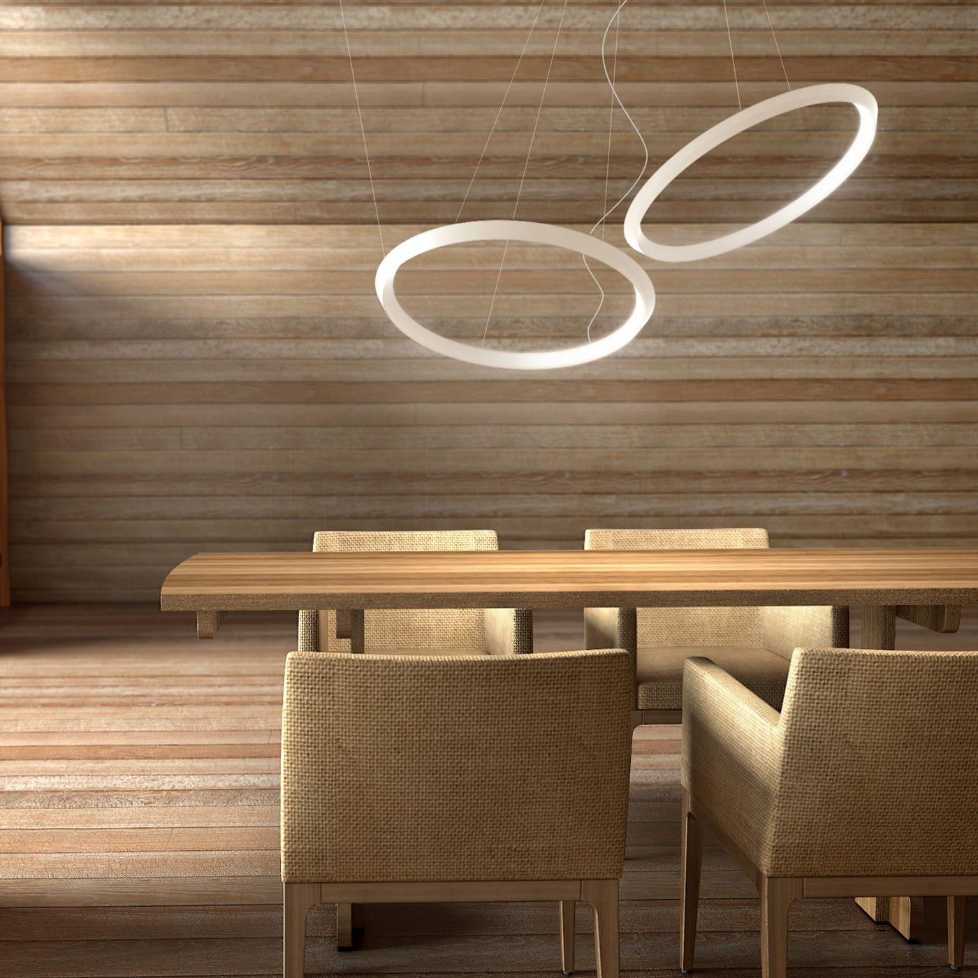 Vibia halo circular pendant light led pendant lights aloadofball Image collections