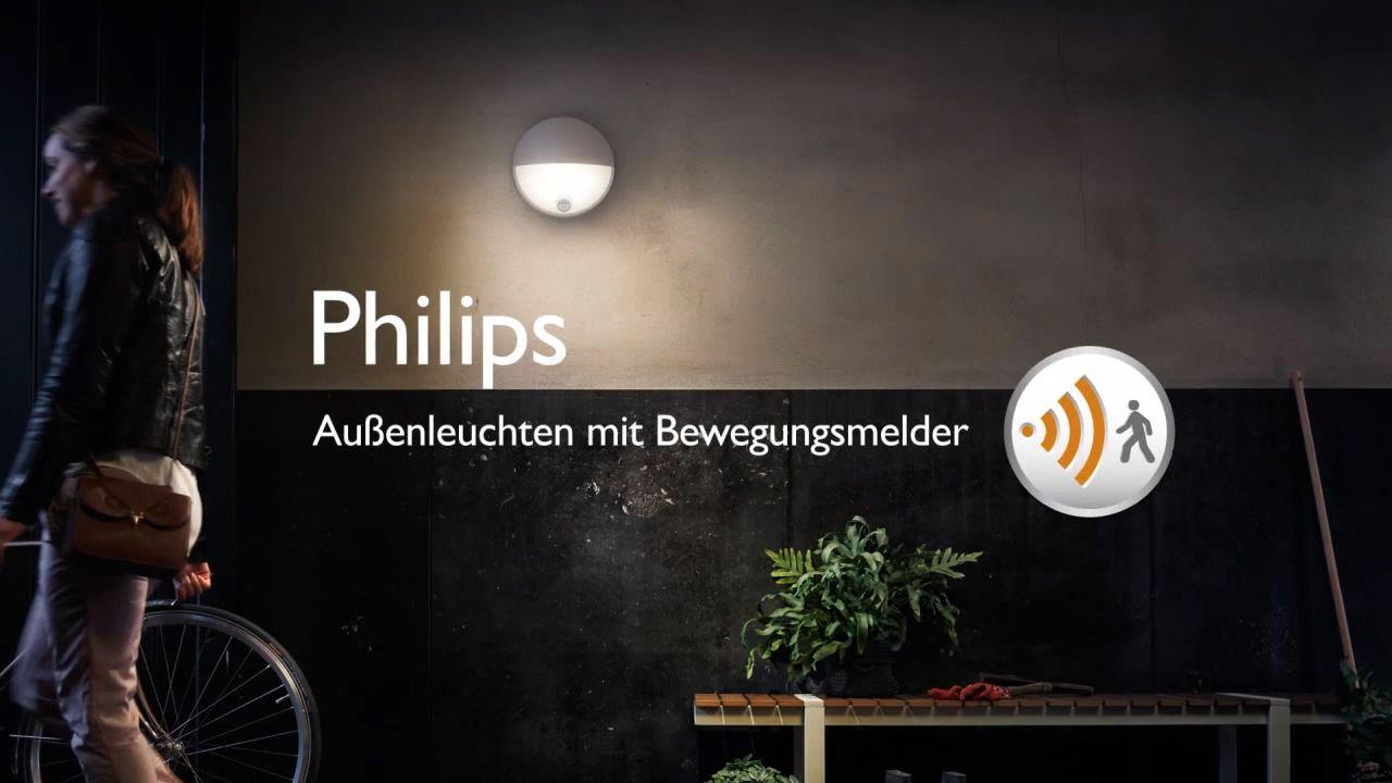 Philips mygarden buitenlamp june met bewegingsmelder antraciet