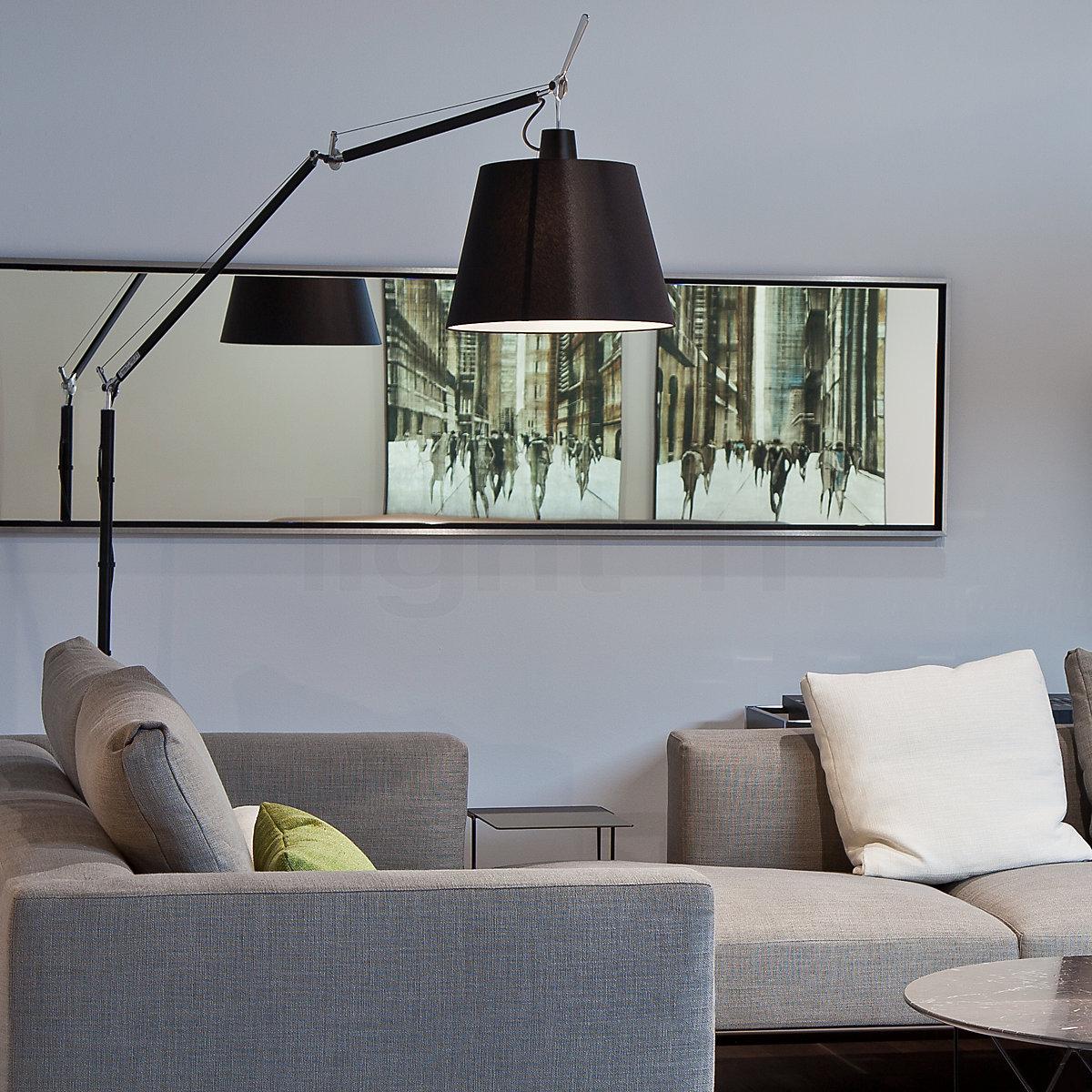 Artemide Stehleuchte Tolomeo Mega Terra LED mit Tastdimmer