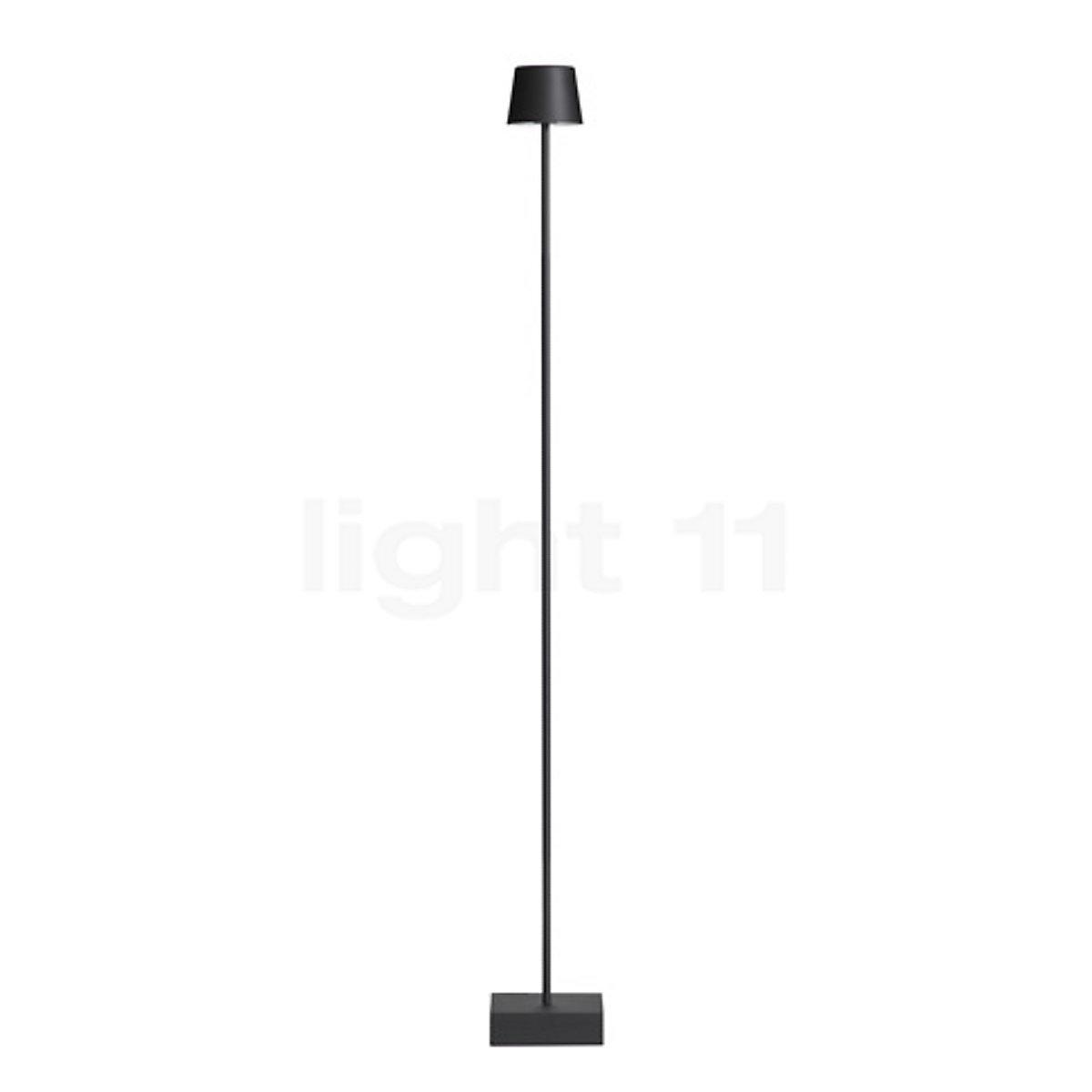 Kleine Zwarte Staande Lamp.Anta Cut Vloerlamp Met Toetsdimmer Kopen Bij Light11 Nl