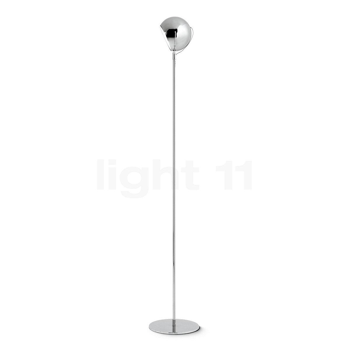 Fabbian Beluga Steel Floor Lamp At