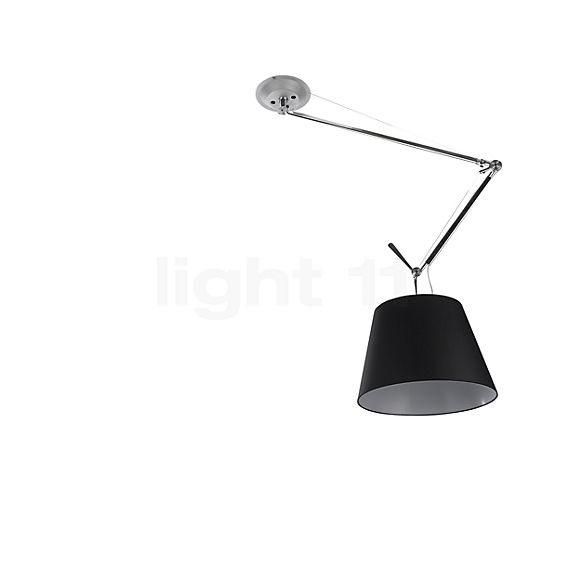 Artemide Tolomeo Sospensione Decentrata Black Edition in the 3D viewing mode for a closer look