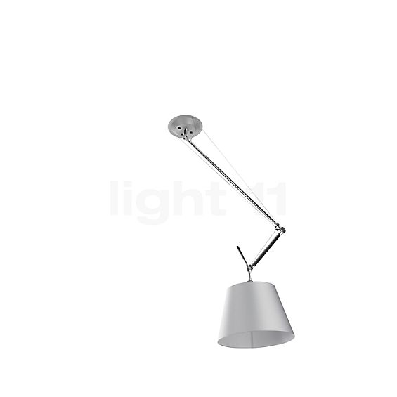 Artemide Tolomeo Sospensione Decentrata White Edition in the 3D viewing mode for a closer look
