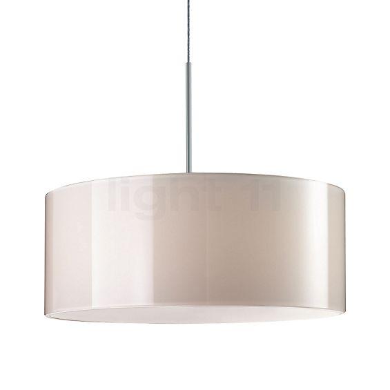 Bruck Cantara Glas 300 Down, lámpara de suspensión LED en cromo mate