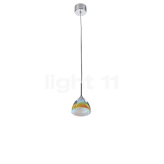 Bruck Silva Down 110 350 mA PNT Pendant Light LED, chrome glossy in the 3D viewing mode for a closer look