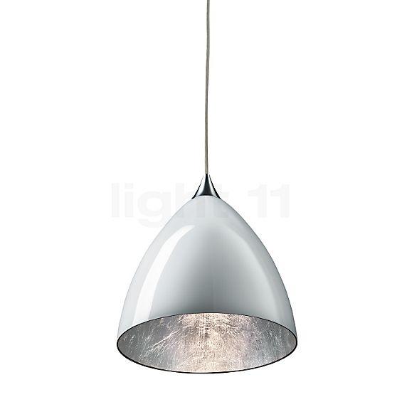 Bruck Silva Down 160 Pendant Light, polished chrome