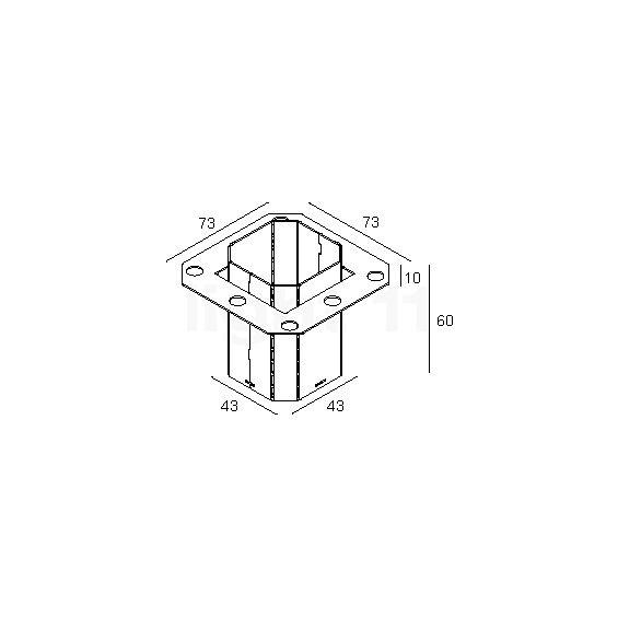 delta light concrete box 153 kaufen bei. Black Bedroom Furniture Sets. Home Design Ideas