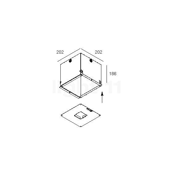 delta light concrete box 162 kaufen bei. Black Bedroom Furniture Sets. Home Design Ideas