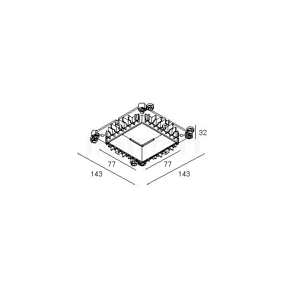 Delta Light Mounting Kit 75 Trimless