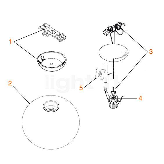 Flos Ersatzteile für Glo-Ball S1