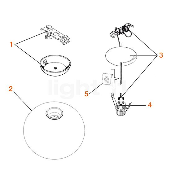 Flos Spare parts for Glo-Ball S1