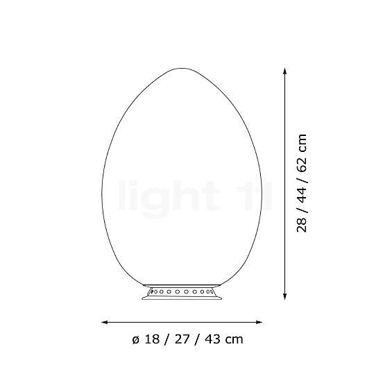 Lampe de table Fontana Arte Uovo Tavolo - light11.fr