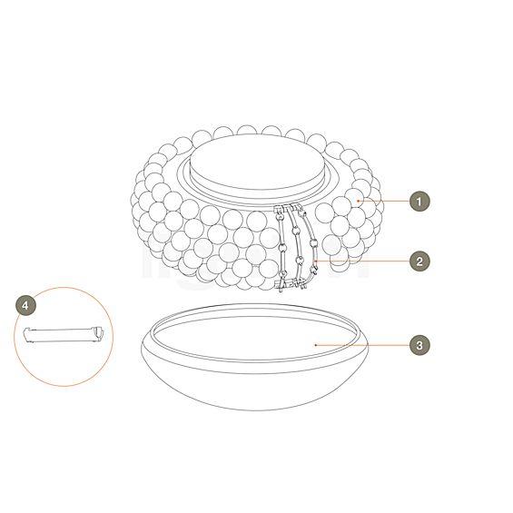 Foscarini Ersatzteile für Caboche Soffitto