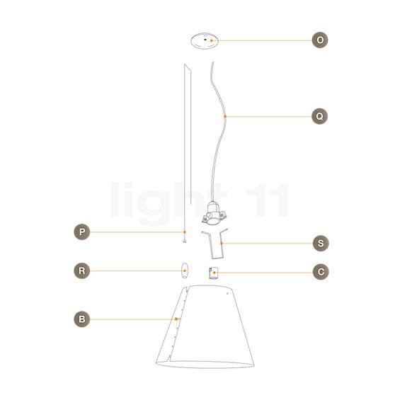 Luceplan Spare Parts for Costanzina Sospensione, adjustable