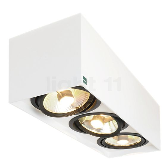 Mawa 111er angular Ceiling Light 3 lamps LED HV