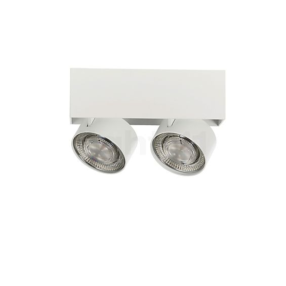 Mawa Wittenberg 4.0 Ceiling Light semi-flush with two spots LED in the 3D viewing mode for a closer look
