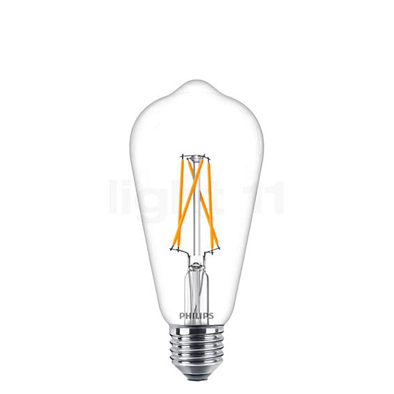 Philips ST64-dim 8,5W/c 822/827, E27 LEDclassic
