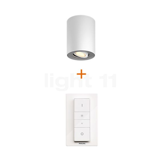 philips hue white ambiance pillar 1 er spot surface mounted ceiling lights. Black Bedroom Furniture Sets. Home Design Ideas