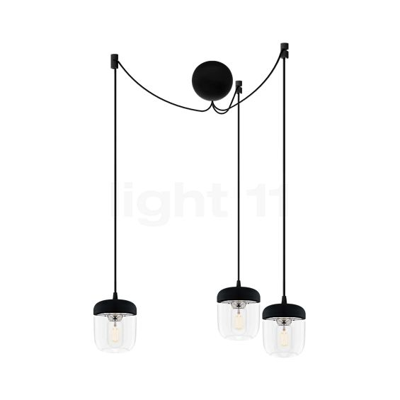 UMAGE Acorn Cannonball Pendant Light 3 lamps black