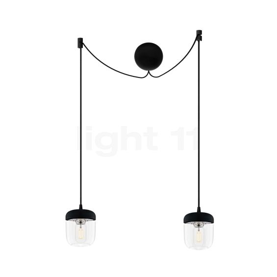 UMAGE Acorn Cannonball Pendant Light with 2 lamps black