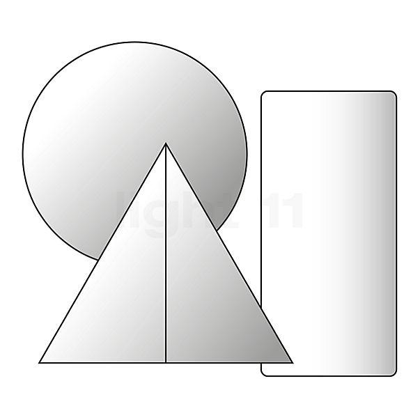 Absolut Lighting Ersatzteil - Glas für Aluring Pendelleuchte (unten, gross)