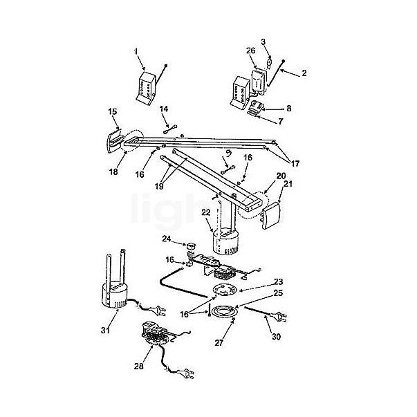 Artemide Architectural Spare parts for Tizio 50, white