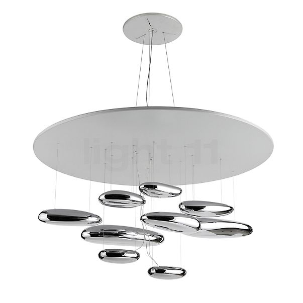 Artemide Mercury Sospensione LED in the 3D viewing mode for a closer look