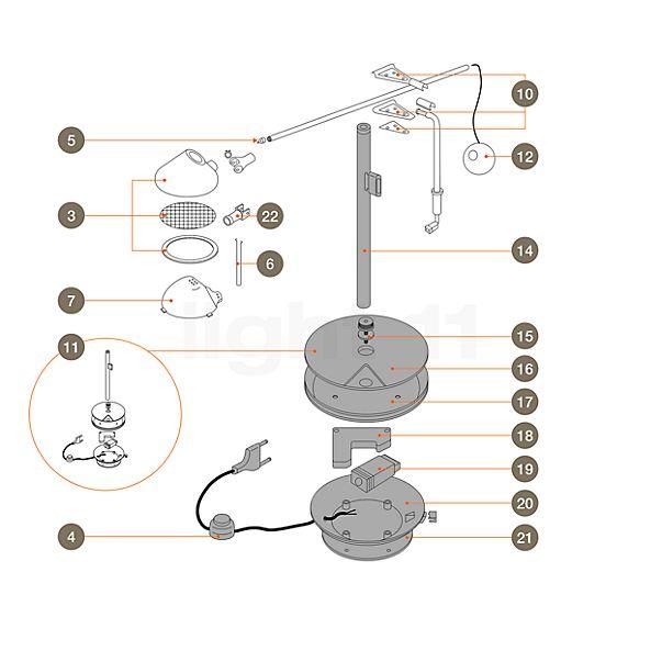 Artemide Reserveonderdelen voor Nestore Lettura