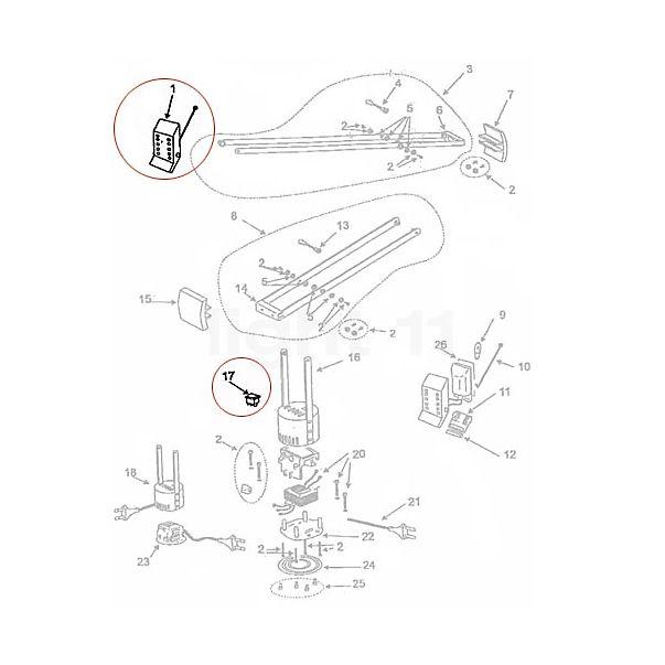 Artemide Spare parts for Tizio 35, white