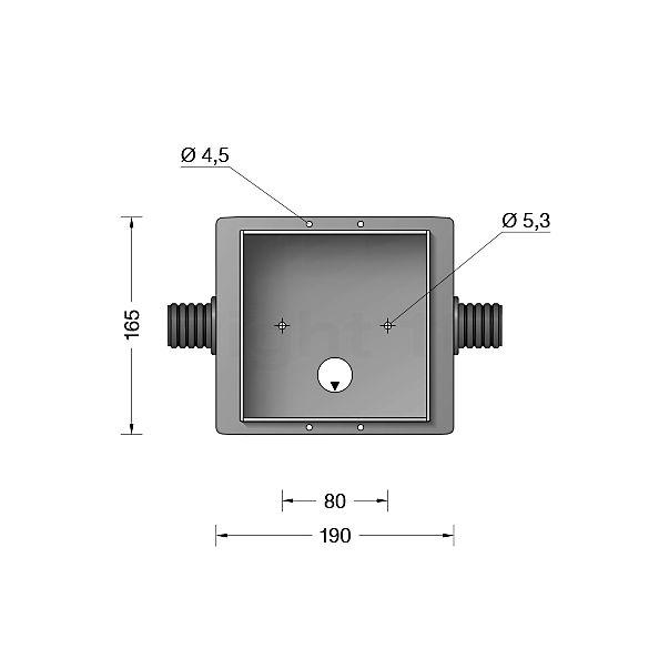 Bega 10463-Inbouwbehuizing voor BEGA 3296